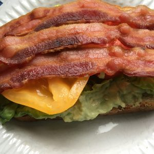 A BLT with Creamy Avocado Spread